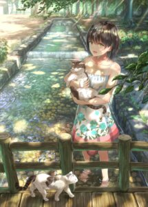 Rating: Safe Score: 29 Tags: cleavage dress k_ryo landscape neko summer_dress wet User: mash