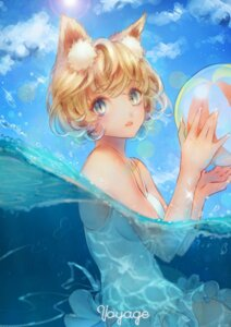 Rating: Safe Score: 22 Tags: animal_ears sai_ichirou swimsuits wet User: BattlequeenYume