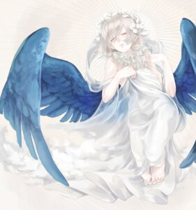 Rating: Safe Score: 15 Tags: dress feet mizutamari_tori wings User: charunetra