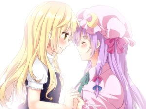 Rating: Safe Score: 29 Tags: etou kirisame_marisa patchouli_knowledge touhou yuri User: shebang