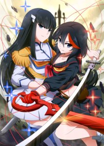 Rating: Questionable Score: 38 Tags: kill_la_kill kiryuuin_satsuki matoi_ryuuko seifuku sword umakatsuhai User: sylver650