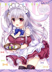 Rating: Safe Score: 63 Tags: ame_to_yuki animal_ears bunny_ears cleavage maid tail thighhighs waitress User: drop