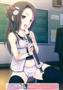 Rating: Questionable Score: 99 Tags: loli miyama-zero pantsu see_through thighhighs User: Twinsenzw