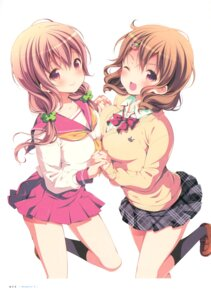 Rating: Safe Score: 53 Tags: hinako_note mitsuki_(mangaka) seifuku sweater symmetrical_docking User: fireattack