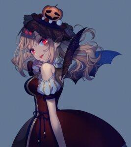 Rating: Safe Score: 12 Tags: blood dress elu_(nijisanji) hina_(hinalovesugita) nijisanji pointy_ears wings User: harukishima