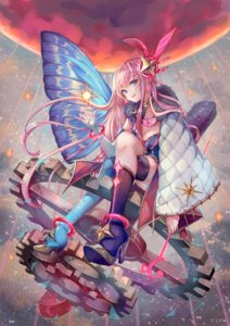 Rating: Safe Score: 38 Tags: cleavage heels megurine_luka pisuke thighhighs vocaloid wings User: Mr_GT