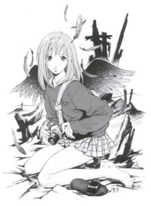 Rating: Safe Score: 9 Tags: flcl monochrome samejima_mamimi wings User: blooregardo