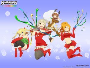 Rating: Safe Score: 12 Tags: animal_ears christmas cleavage dress fishnets heels horns kobayashi_gen school_girl_strikers stockings tail thighhighs User: vita