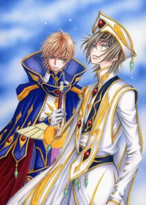 Rating: Safe Score: 9 Tags: code_geass kururugi_suzaku lelouch_lamperouge male tsuda_mikiyo User: Aurelia