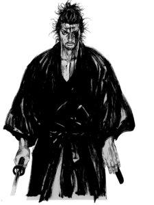 Rating: Safe Score: 4 Tags: blood inoue_takehiko male monochrome sword vagabond User: Umbigo