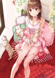 Rating: Safe Score: 56 Tags: cleavage lingerie matsuzaki_miyuki neko User: Mr_GT