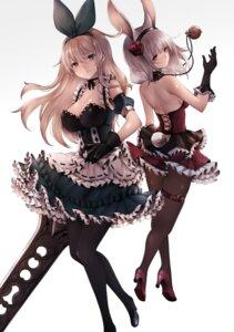 Rating: Safe Score: 65 Tags: animal_ears bunny_ears bunny_girl cleavage garter heels inaba_sunimi pantyhose sword tail User: Mr_GT