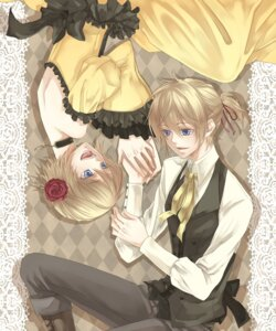 Rating: Safe Score: 9 Tags: aku_no_meshitsukai_(vocaloid) dress gamu kagamine_len kagamine_rin vocaloid User: Radioactive