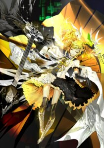 Rating: Safe Score: 43 Tags: dress guitar kagamine_rin meltdown_(vocaloid) nil thighhighs vocaloid User: Amperrior