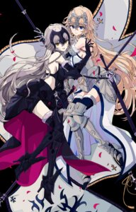 Rating: Safe Score: 29 Tags: armor fate/grand_order heels jeanne_d'arc jeanne_d'arc_(alter)_(fate) jeanne_d'arc_(fate) osanai sword thighhighs User: Radioactive
