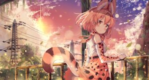 Rating: Safe Score: 35 Tags: animal_ears animal_ears_(artist) kemono_friends serval skirt_lift tail User: Nepcoheart