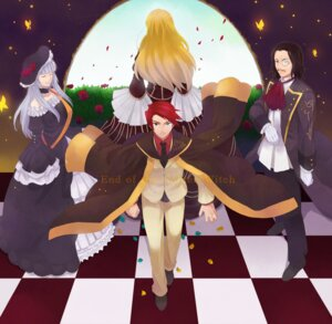 Rating: Safe Score: 4 Tags: beatrice noshio ronove umineko_no_naku_koro_ni ushiromiya_battler virgilia User: 洛井夏石