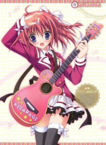 Rating: Safe Score: 33 Tags: endou_saya guitar hontani_kanae kisaragi_gold_star saga_planets seifuku thighhighs User: fireattack