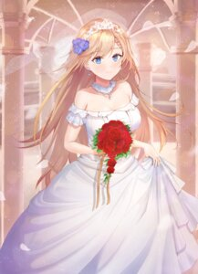 Rating: Safe Score: 29 Tags: cleavage dress g36_(girls_frontline) girls_frontline necoring862 wedding_dress User: Mr_GT