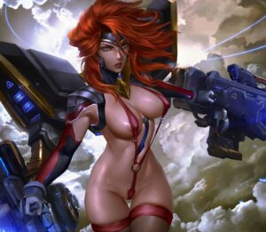 Rating: Questionable Score: 12 Tags: areola erect_nipples gun logan_cure sling_bikini swimsuits thighhighs User: lushp