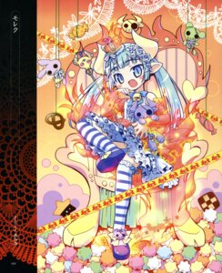 Rating: Safe Score: 46 Tags: amimi devil dress horns lolita_fashion nopan thighhighs User: petopeto