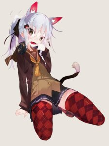 Rating: Safe Score: 52 Tags: animal_ears headphones karei nekomimi seifuku tail thighhighs User: Radioactive