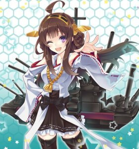 Rating: Safe Score: 38 Tags: kantai_collection kongou_(kancolle) thighhighs urabi User: 椎名深夏