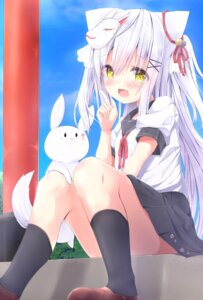 Rating: Safe Score: 53 Tags: animal_ears kouda_suzu nekomimi seifuku skirt_lift User: sym455