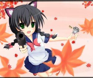 Rating: Safe Score: 22 Tags: animal_ears fujieda_uzuki gun nekomimi paperman seifuku User: blooregardo