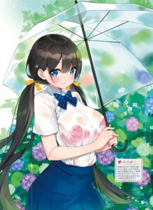 Rating: Questionable Score: 27 Tags: ayamy bra see_through seifuku umbrella wet wet_clothes User: Twinsenzw