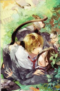 Rating: Safe Score: 20 Tags: animal_ears binding_discoloration kazuaki male nekomimi tail yaoi User: Radioactive