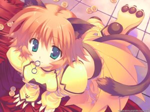 Rating: Safe Score: 21 Tags: animal_ears corne_coco_necoco fullani leaf mitsumi_misato nekomimi tail wallpaper User: Riven
