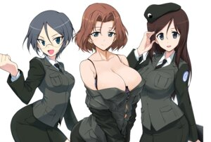 Rating: Questionable Score: 45 Tags: azumi_(girls_und_panzer) bra cleavage girls_und_panzer megane megumi_(girls_und_panzer) open_shirt ore-halcon rumi_(girls_und_panzer) uniform User: mash