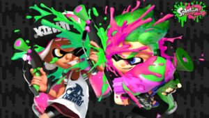 Rating: Questionable Score: 3 Tags: bike_shorts gun inkling_(splatoon) nintendo splatoon wallpaper weapon User: fly24