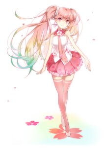 Rating: Safe Score: 54 Tags: hatsune_miku sakura_miku thighhighs tyuh vocaloid User: 23yAyuMe