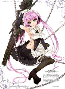 Rating: Questionable Score: 56 Tags: heels isekai_maou_to_shoukan_shoujo_no_dorei_majutsu maid no_bra pantyhose rose_(isekai_maou_to_shoukan_shoujo_no_dorei_majutsu) sword tsurusaki_takahiro weapon User: drop