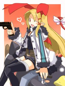 Rating: Safe Score: 13 Tags: cosplay disgaea flonne gun prinny thighhighs ug User: Radioactive