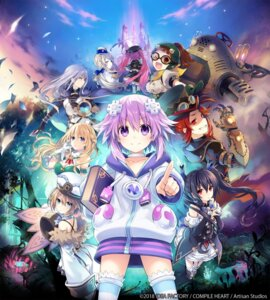 Rating: Safe Score: 36 Tags: blanc choujigen_game_neptune cleavage compile_heart heels idea_factory mecha mecha_musume megane neptune noire thighhighs tsunako uniform vert User: Nepcoheart