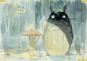 Rating: Safe Score: 9 Tags: kusakabe_mei oga_kazuo tonari_no_totoro totoro User: Radioactive