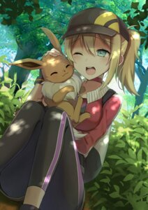 Rating: Safe Score: 52 Tags: eevee pokemon pokemon_go pokemon_trainer tadaomi_(amomom) User: mash