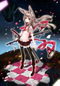 Rating: Safe Score: 44 Tags: animal_ears linsert seifuku sword tail thighhighs weapon User: Mr_GT