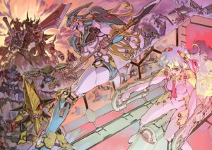 Rating: Safe Score: 38 Tags: bodysuit mecha nia tengen_toppa_gurren_lagann weapon yoshinari_you User: vistigris