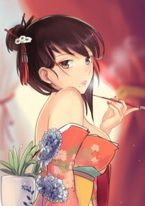 Rating: Safe Score: 55 Tags: kimono open_shirt smoking yggdrasil_(artist) User: Mr_GT
