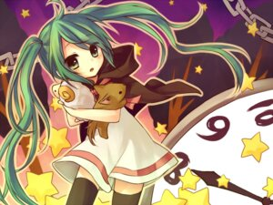 Rating: Safe Score: 28 Tags: amene_kurumi hatsune_miku thighhighs vocaloid User: fairyren