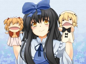 Rating: Safe Score: 10 Tags: kamo_(yokaze) luna_child star_sapphire sunny_milk touhou wallpaper User: Radioactive