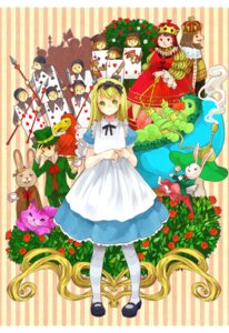 Rating: Safe Score: 7 Tags: alice alice_in_wonderland caterpillar_(wonderland) cheshire_cat dodo dormouse king_of_hearts mad_hatter march_hare queen_of_hearts rizumu white_rabbit User: charunetra