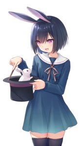Rating: Safe Score: 13 Tags: animal_ears bunny_ears na-ga seifuku thighhighs User: harukishima