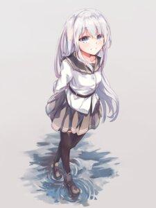 Rating: Safe Score: 25 Tags: hibiki_(kancolle) kantai_collection seifuku shinsoyori thighhighs User: BattlequeenYume