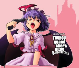 Rating: Safe Score: 12 Tags: dress grand_theft_auto gun kato_(artist) parody remilia_scarlet touhou wings User: konstargirl