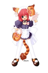 Rating: Safe Score: 5 Tags: animal_ears gayarou maid tail thighhighs waitress User: Radioactive